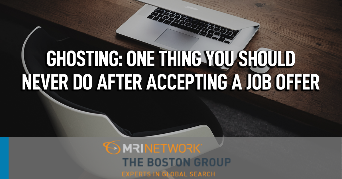 Ghosting: One thing you should never do after accepting a job offer or interview invitation