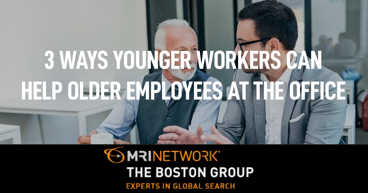 3 Ways Younger Workers Can Help Older Employees at the Office