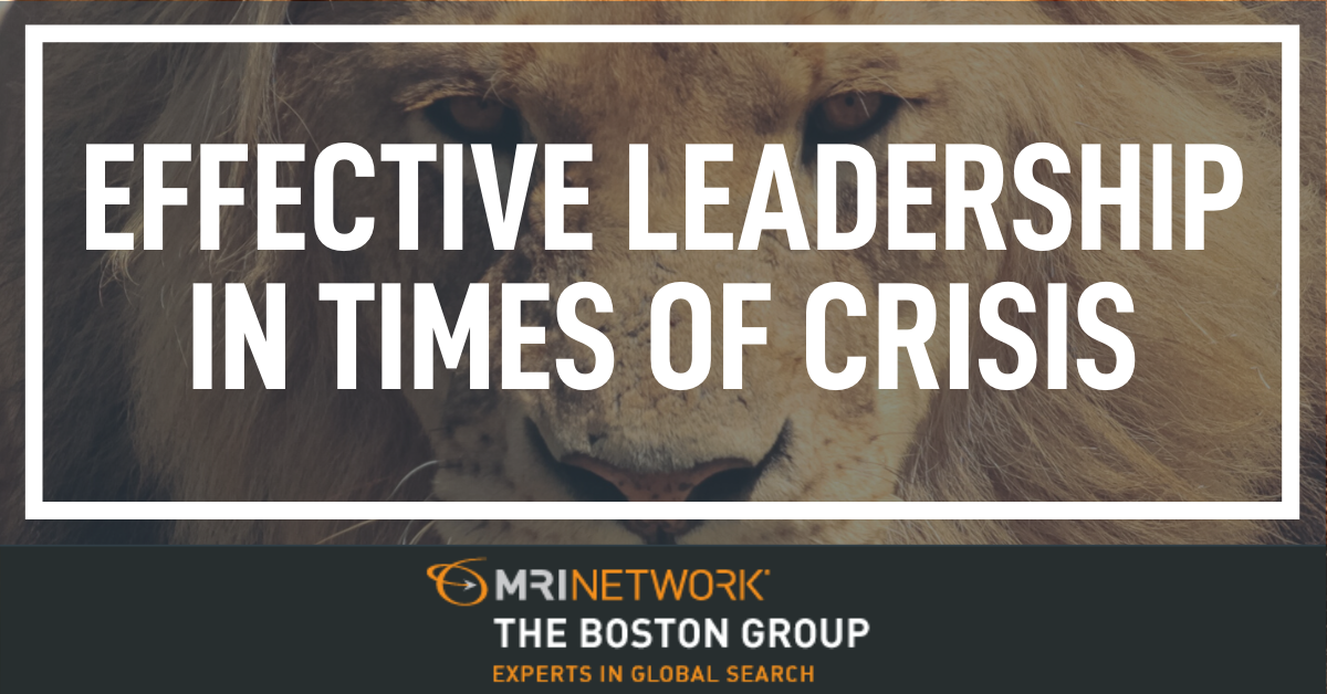 Effective Leadership in Times of Crisis