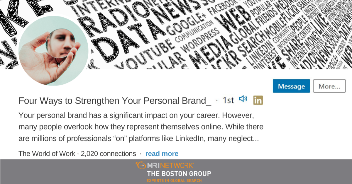 Four Ways to Strengthen Your Personal Brand
